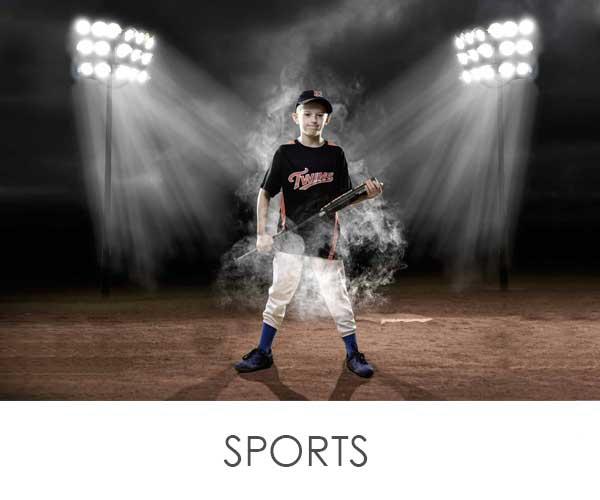 boy standing in baseball field