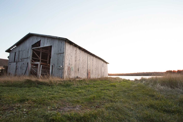 old barn on Second Peninsula in Lunenburg