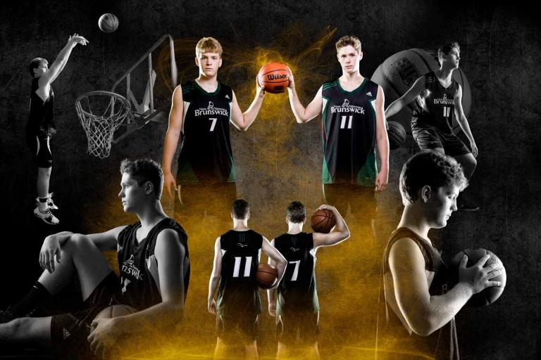 Miramichi basketball players collage