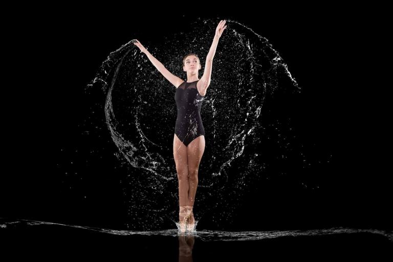 Miramichi ballet dancer splashing water high