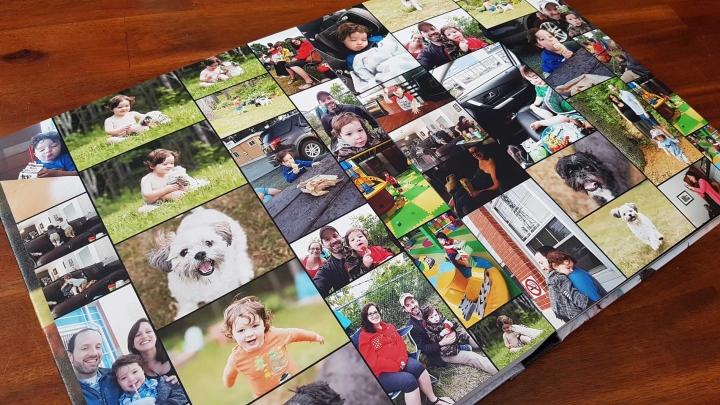 photo album of cell phone photos