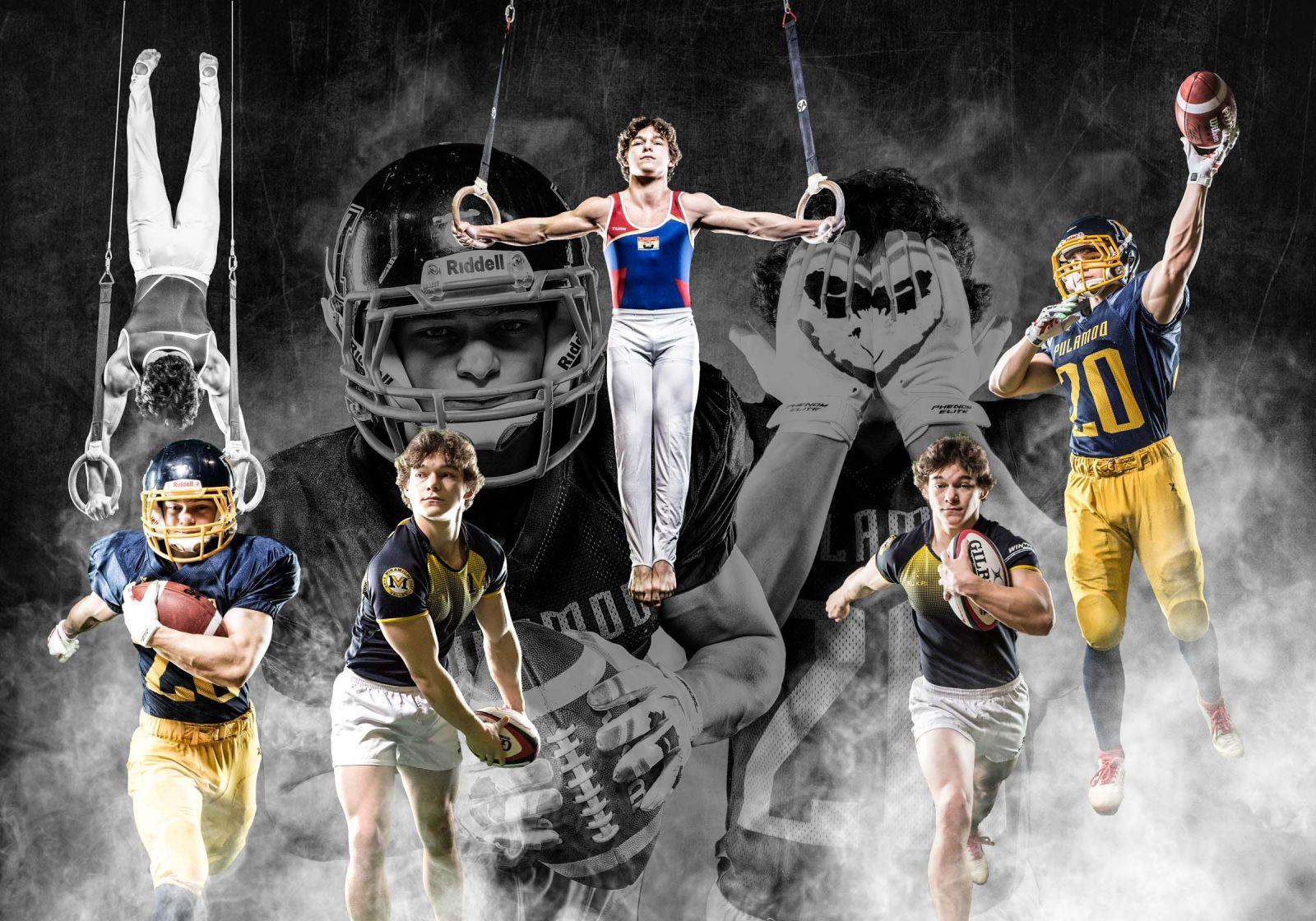 Miramichi sports graduation photo composite